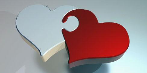 corazones entrelazados de la amistad